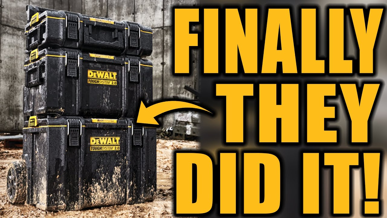 New DeWALT Toughsystem 2.0 Tool Storage Boxes (FINALLY THEY DID IT!)