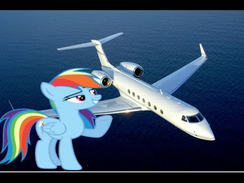 Rainbow Dash Want To Be A Plane