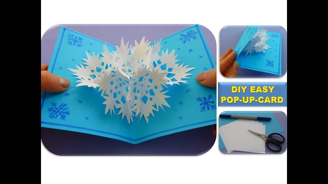 DIY 3D SNOWFLAKE POP UP CARD CHRISTMAS GIFTS EASY IDEAS
