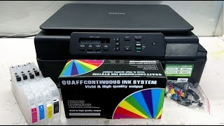 How to Install Brother CISS/Refillable Cartridges for J100 J105 J200 - LC535 LC539