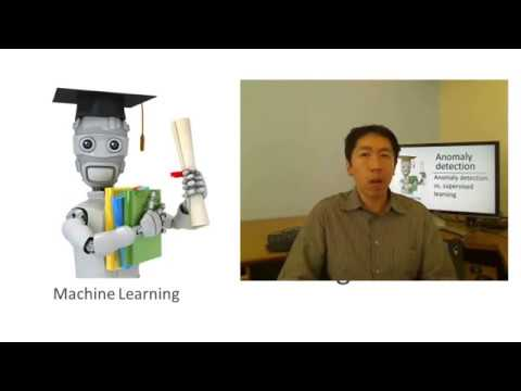 Lecture 15.5 — Anomaly Detection | Anomaly Detection Vs Supervised Learning — [ Andrew Ng ]