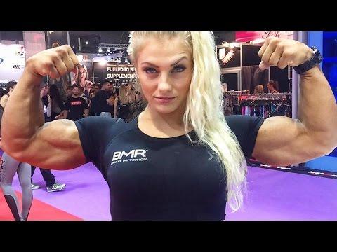 Pro bodybuilder nathalie falk in the gym - 1 part 10