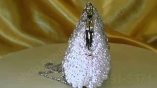 Cвадебная сумочка клатч для невесты