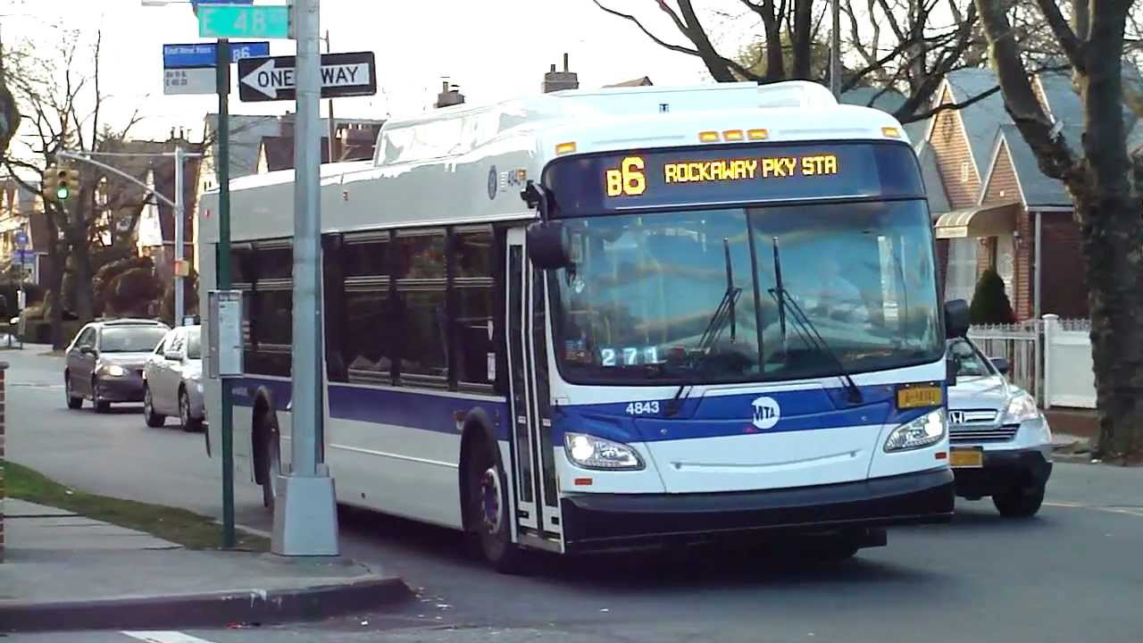 mta nyct bus: 2011 new flyer xd40 xcelsior b6 bus #4843 at kings
