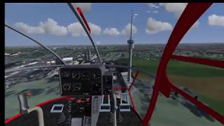Flightgear Helicopter Rooftop Start & Landing