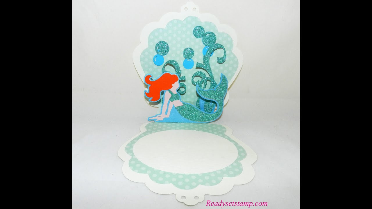 Mermaid card youtube mermaid card solutioingenieria Image collections