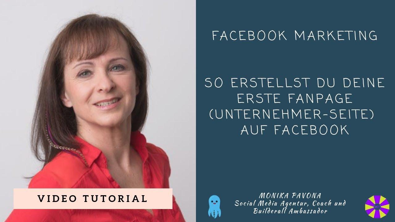 Facebook Fanpage erstellen [Tutorial] ⭐⭐⭐ - YouTube