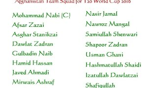 Video Afghanistan Team Squad for T20 World Cup 2016 download MP3, 3GP, MP4, WEBM, AVI, FLV Agustus 2017