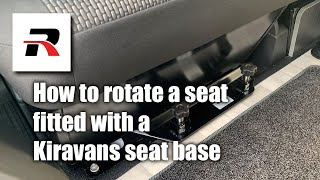 Turning a front double seat in a Redline Camper van ( Kiravans swivel base )