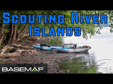 Scouting River Islands For Hunting Hot Spots - With Basemap