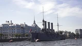 Санкт-Петербург - Реки и каналы - Лето - Нева - Аврора. Видео - Александр Травин