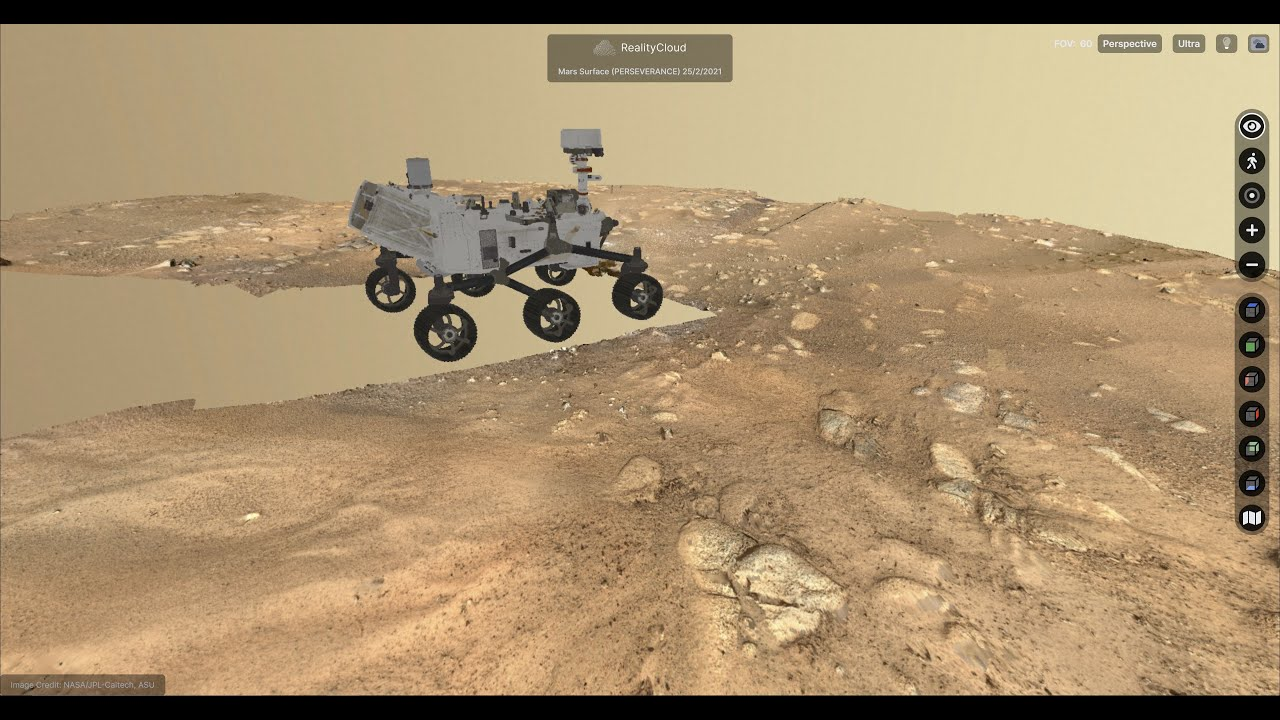 Download 3D Landing Site of Perseverance Mars Rover