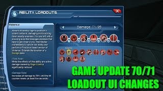 DCUO PC Test Server - GU70/71: Loadout UI Changes