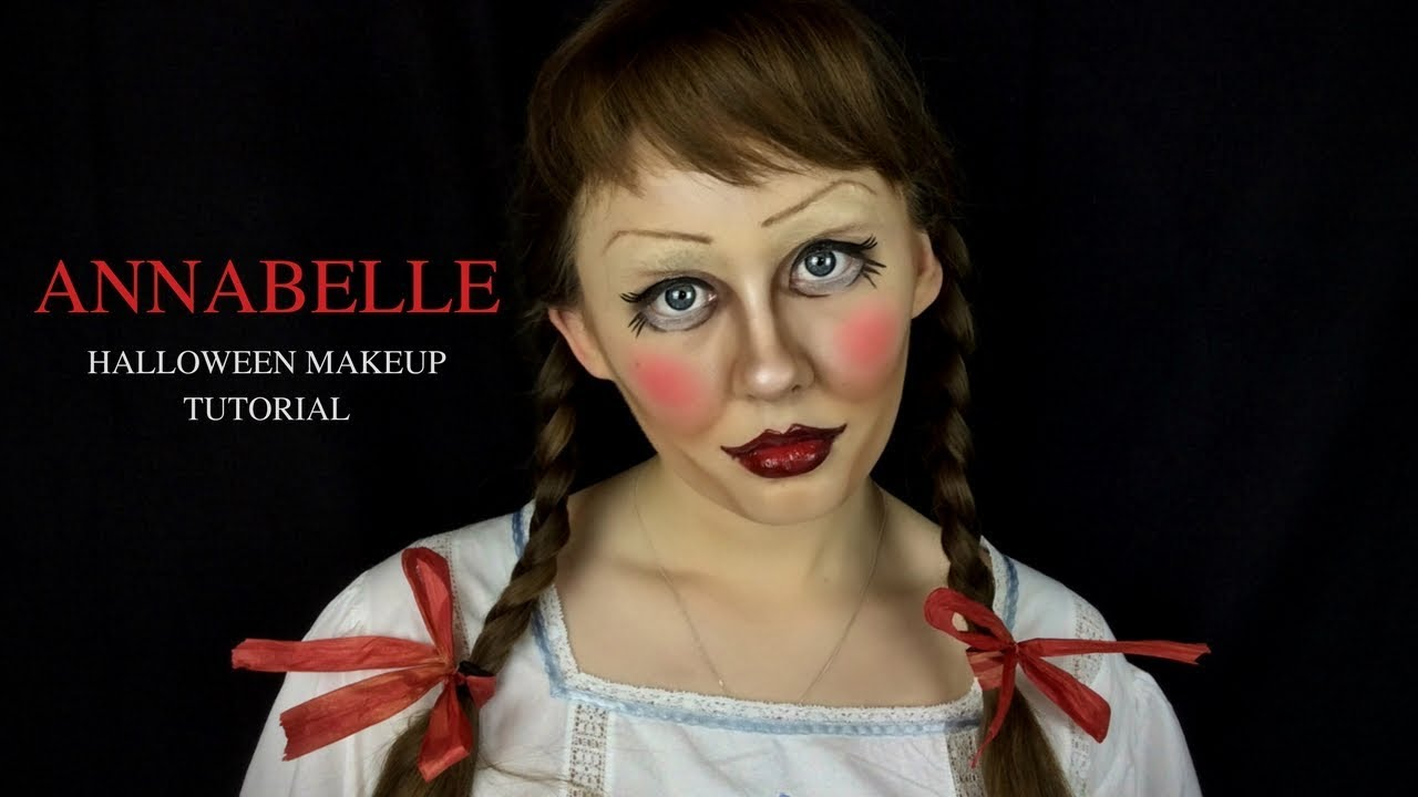 Trucco Annabelle Halloween.Annabelle Makeup Tutorial Saubhaya Makeup