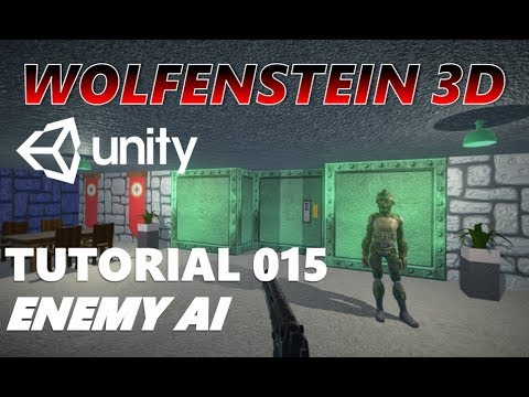 How To Make An FPS WOLFENSTEIN 3D Game Unity Tutorial 015 - ENEMY AI thumbnail