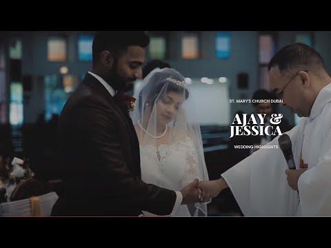 St.Mary's Church Dubai Wedding | Ajay & Jessica