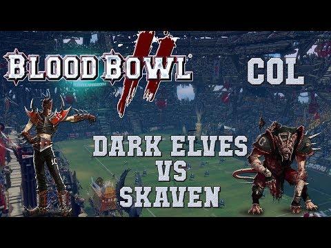 Blood Bowl 2 - Dark Elves (the Sage) vs Skaven - Challenge G4