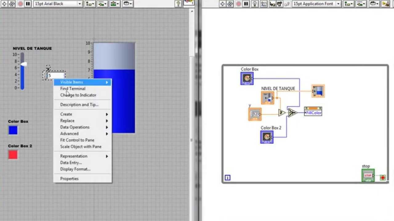 Labview cambio de color seg n nivel de llenado en un for Diferencia entre tanque y estanque
