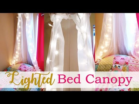 & Lighted Bed Canopy Tutorial (DIY) - YouTube