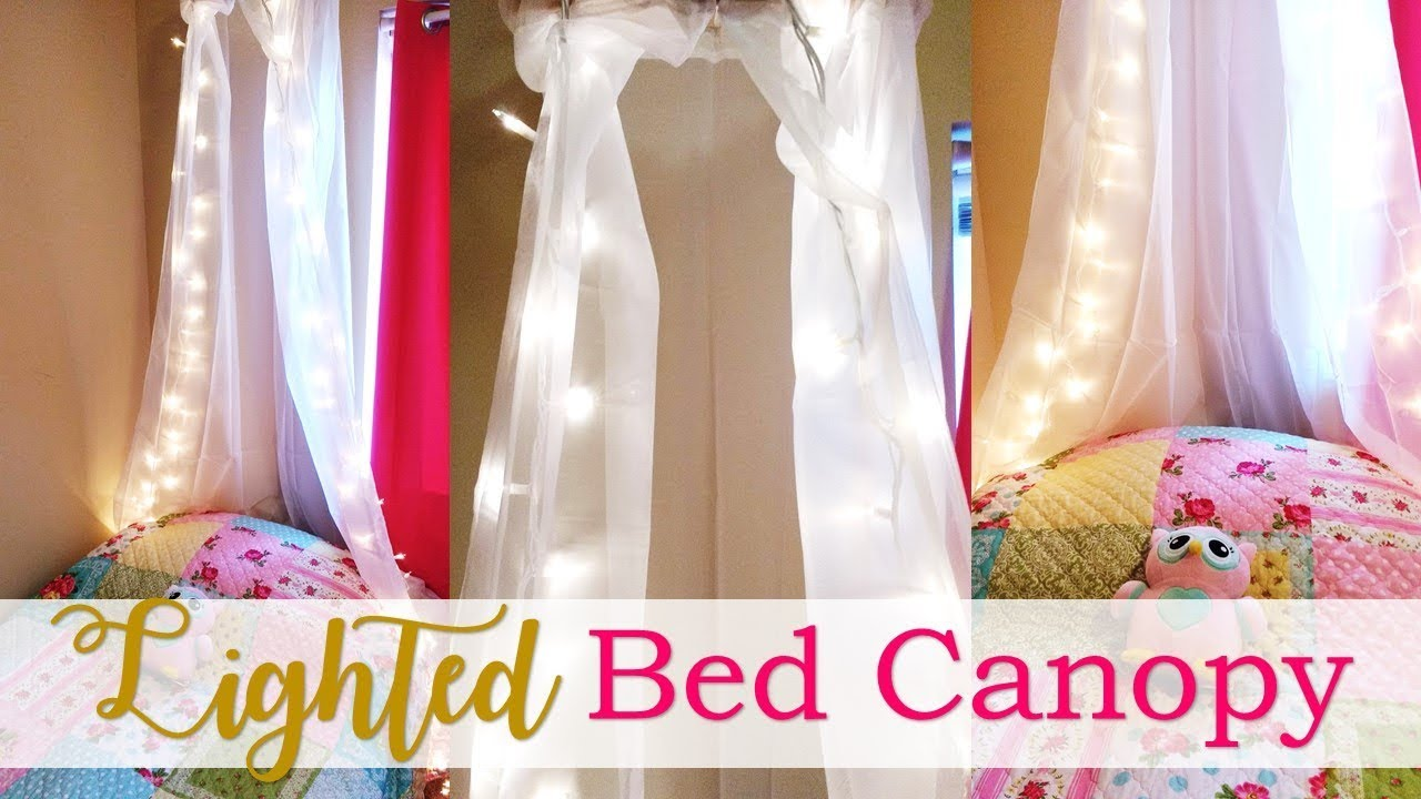 make star lighted canopies for beds | Lighted Bed Canopy Tutorial (DIY) - YouTube