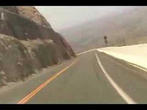 US Route 14A Down Hill Heading to Big Horn Basin, Wyoming on Sport Bikes