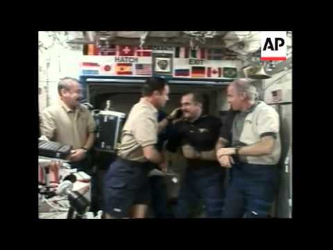 ISS change of command ceremony take place