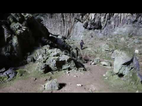 Woman Walked in the Underground Cave