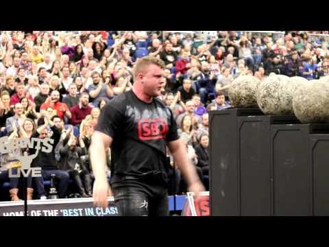 Tom Stoltman vs Mark Steele on Atlas Stones at Britain's Strongest Man 2017