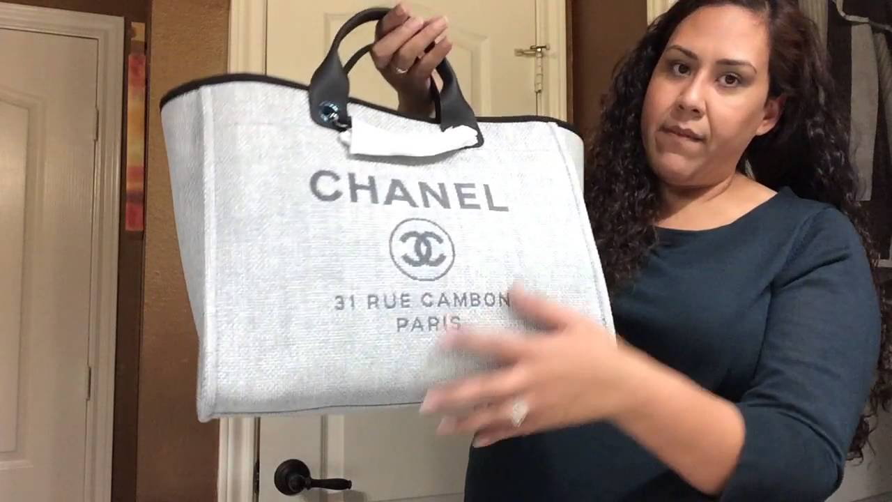 9e959b678371 Chanel Unboxing!! Deauville Tote - YouTube