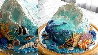 УКРАШЕНИЕ ТОРТОВ, МОРСКОЙ ТОРТ от SWEET BEAUTY СЛАДКАЯ КРАСОТА, SEA CAKE DECORATION