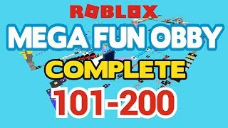 ROBLOX - MEGA FUN OBBY COMPLETED - Stage 101-200 (Workthrough)