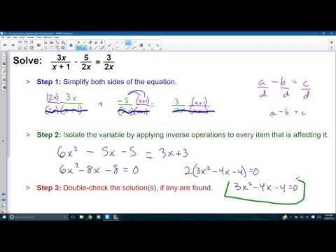 P.4 - Solving Equations Algebraically and Graphically