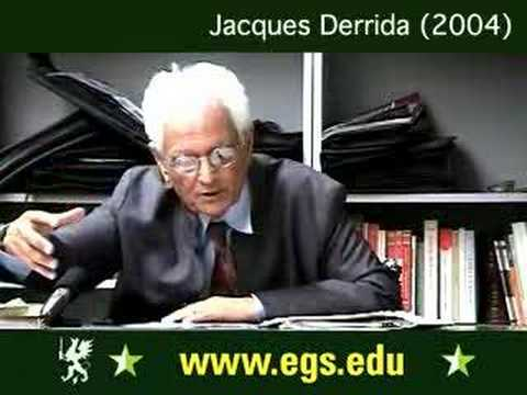 Jacques Derrida. The Notion of Stupidity. 2004