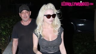 Courtney Stodden & Doug Hutchison Walk Home Together After Leaving The Grocery Store 9.24.16