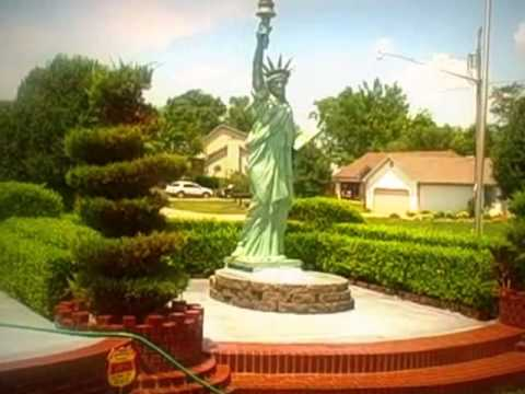 Beau My Front Yard With The Fountains And Bronze Large Statues