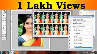 Photoshop tutorial in Tamil - 8 passport size photo in single click Action creating in tamil I'm ko