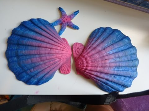 DIY Mermaid Shell Bra Part 1 YouTube