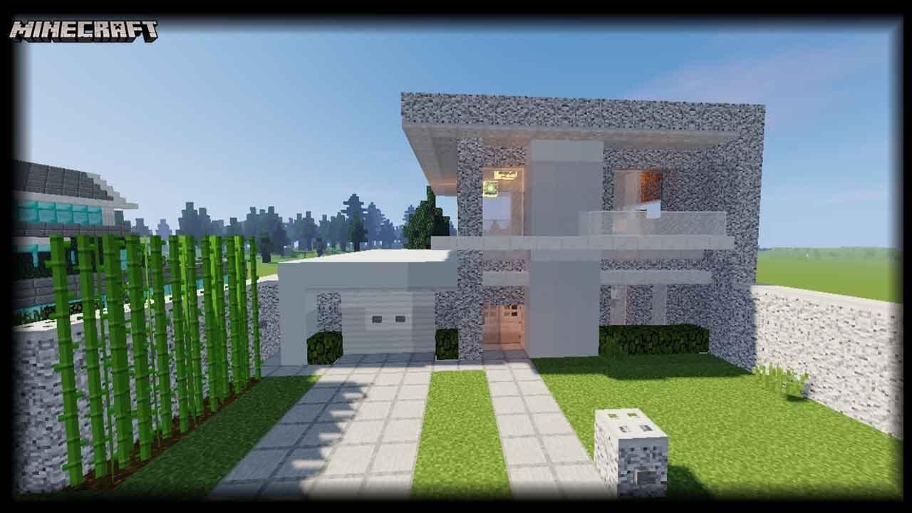 Minecraft Diorite Block House Tutorial Youtube