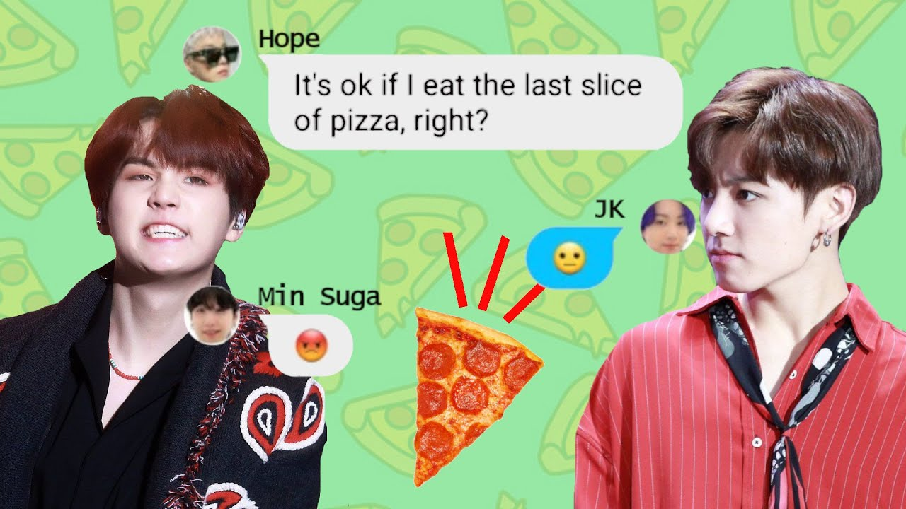 BTS Texts - The giant food fight