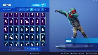 GROWLER SKIN SHOWCASE WITH ALL FORTNITE DANCES & EMOTES