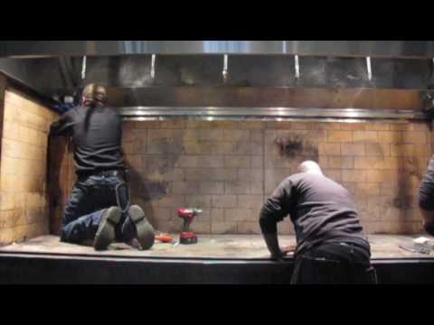 Metal fabrication in restaurant kitchen