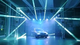 Световое шоу на закрытой презентации нового BMW 5 серии в салоне официального дилера BMW Барс