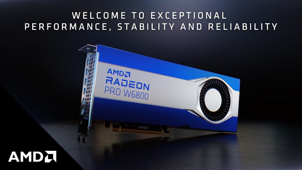 AMD Radeon™ PRO W6800 Graphics. Discover Your Software's Full Potential