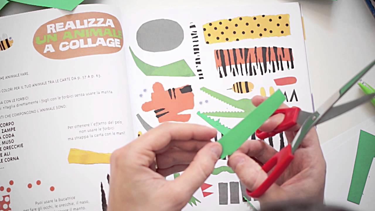 Come Creare Un Collage Di Carta Per Bambini Youtube
