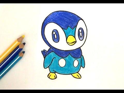 Comment dessiner tiplouf pok mon youtube - Dessiner pokemon ...