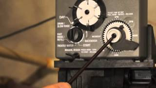 how to set a control timer on a water conditioner softener or water filters