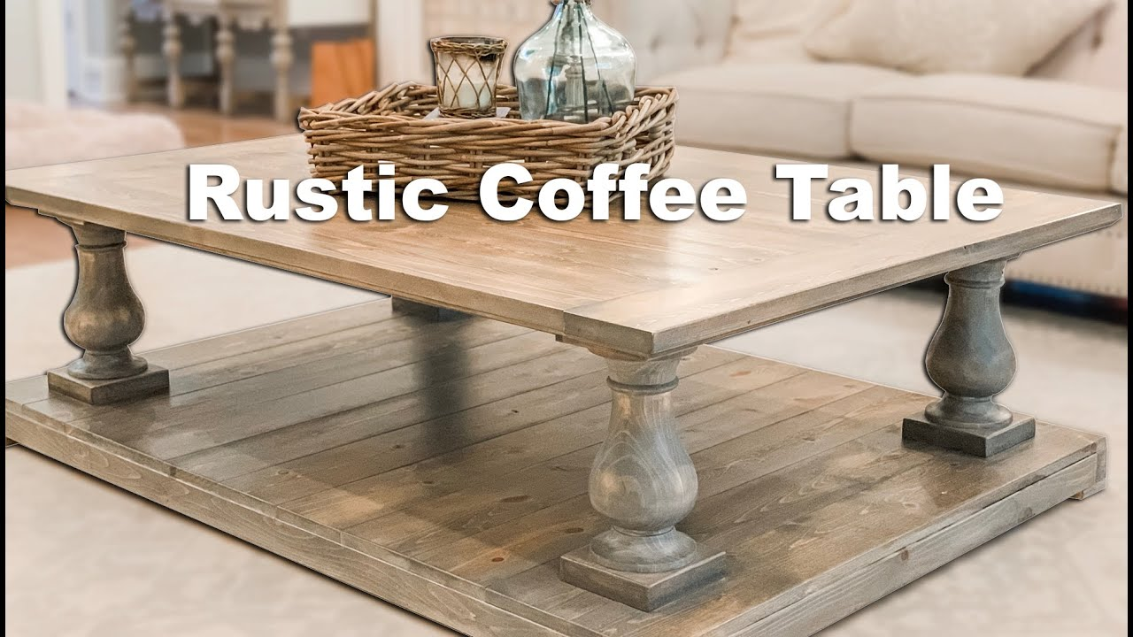 Building A Farmhouse Balustrade Coffee Table Youtube