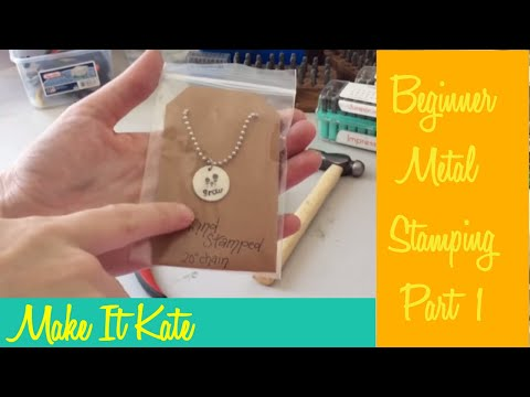 Beginner Metal Stamping Advice for Beginners (Pt 1: Tools)