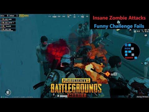 [Hindi] PUBG Mobile | Funny Challenge Fail & Insane Zombie Attacks In Zombie Mode
