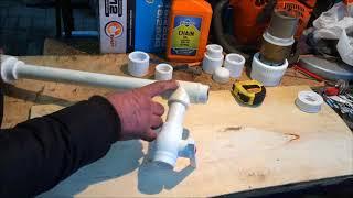 Водяной насос без электричества из трубы ПВХ